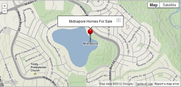 Midnapore Map SE Calgary